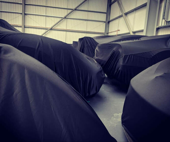 cars undercover being stored safely at Valluga's Silverstone storage facility